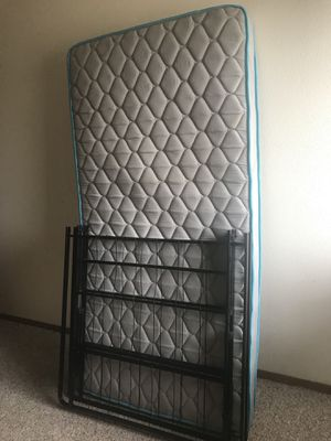 Twin Mattress+Frame $75 for Sale in Eau Claire, WI