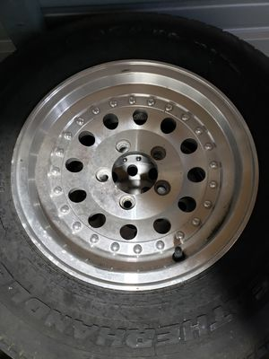 14 inch aluminum rims and tires for Sale in Avon Park, FL