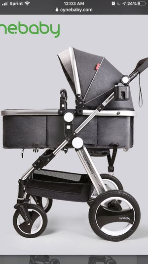 Infant Toddler Baby Stroller Carriage - Cynebaby Compact Pram Stroller Dark gray for Sale in Indianapolis, IN