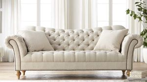 Tufted with Class. Light Almond Color Sofa only. Delivered. New In plastic. for Sale in Atlanta, GA