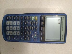 Texas Instruments TI-83 Plus Graphing Calculator Transparent Blue with batteries for Sale in Santa Maria, CA