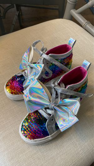 JOJO Sequined high tops with bow Sz 13 for Sale in Lake Forest, IL