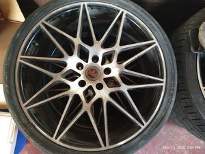 4 20 inch revolution racing rims and low profile tires for Sale in Evansville, IN