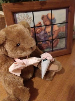 Teddy bear picture and stuffed Vermont bear for Sale in Fresno, CA