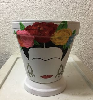 Super cute Frida inspired flower 🌺🌸 pots $25 (plants are optional, if in season) for Sale in Dallas, TX