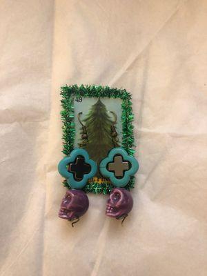 Skull cross earrings for Sale in El Cerrito, CA