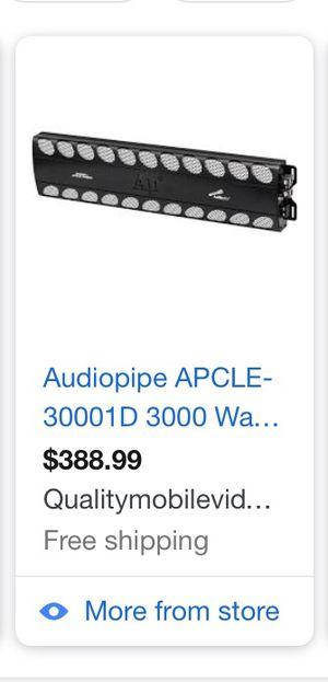 Audio pipe amp 3000.1 watts for Sale in Nashville, TN