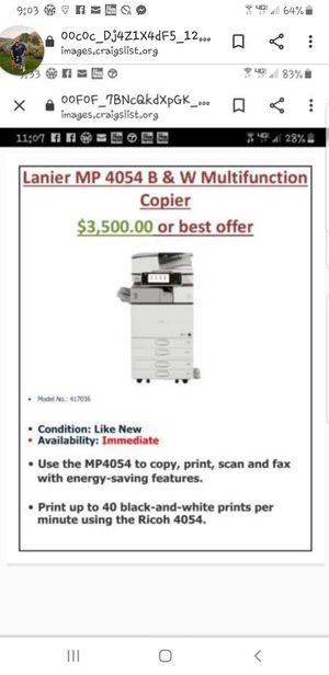 Lanier 4054 B Copy,Scanner, Printer & Fax for Sale in Albuquerque, NM