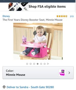 Disney, Minnie Mouse Booster Seat for Sale in Lynwood, CA