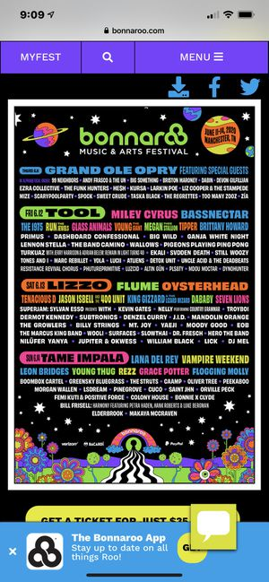 Up to (8) Bonnaroo general admission 4day tickets for Sale in Murfreesboro, TN