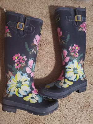 Tall womens rain boots Joules size 8 for Sale in Olympia, WA