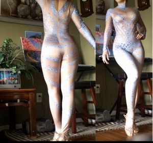 🆕🔥Sexy Rhinestone Dance Costume Performance Bodysuit for Sale in Adelphi, MD