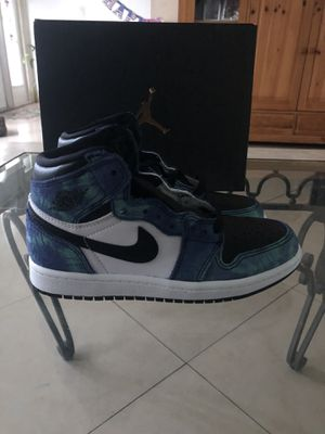 Jordan 1 OG high Tye-dye kids 13.5 for Sale in North Lauderdale, FL