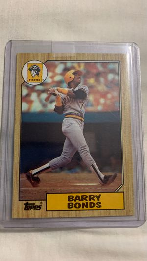 1987 Topps Barry Bonds Pittsburgh Pirates #320 Baseball Card for Sale in Garner, NC