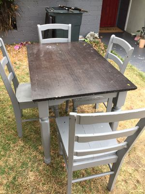 Free table with 4 chairs for Sale in San Diego, CA