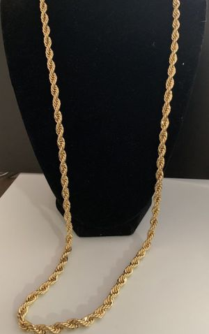 14k stamped gold plated Brazilian rope chain for Sale in Bakersfield, CA