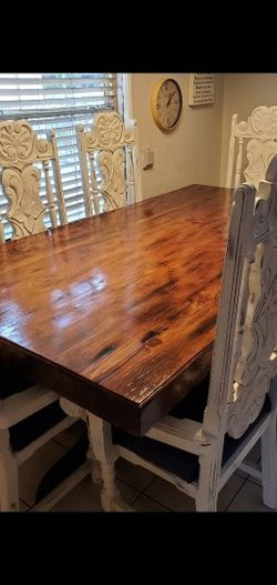 Beautiful Kitchen Dining Table Walnut Color With Black Legs Table ONLY 7x4 OBO for Sale in Long Beach,  CA