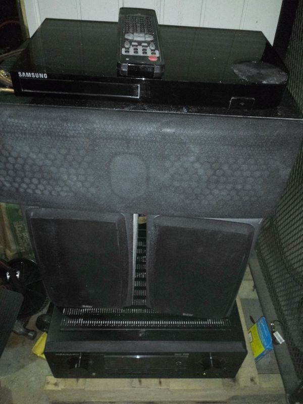 B&W speakers and Marantz receiver