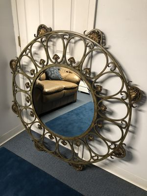 Wrought iron large wall mirror (60 LB) for Sale in Old Bridge Township, NJ