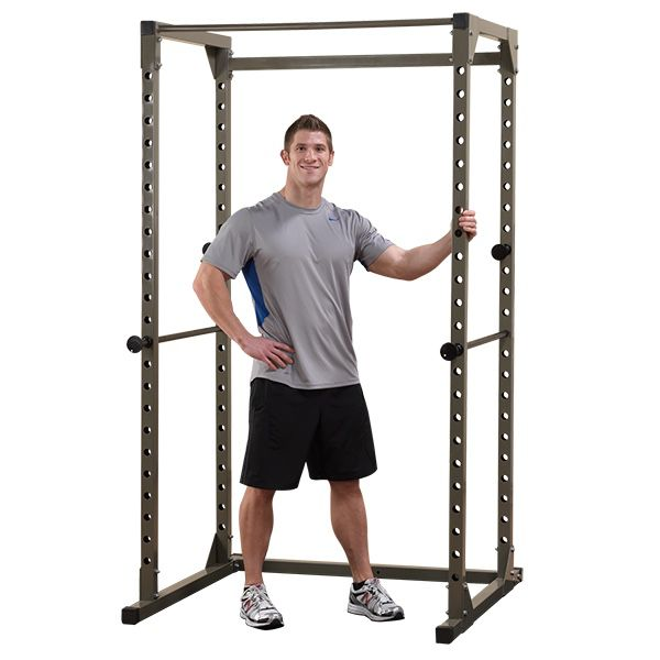 Power rack with bench and olympic bar and 300+ weights