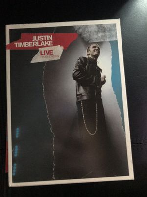 Justin Timberlake live from London dvd for Sale in Stanwood, WA