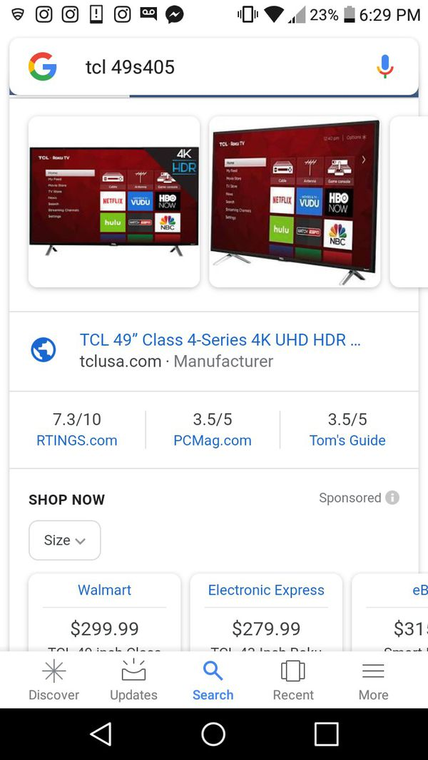 49 inch tcl tv with roku