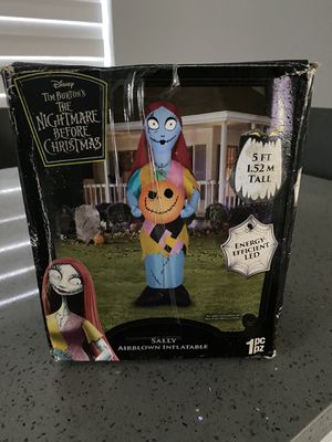 Gemmy Corp Nightmare Before Christmas Sally with Pumpkin LED Lighted Halloween Airblown Inflatable 5FT for Sale in Miramar, FL