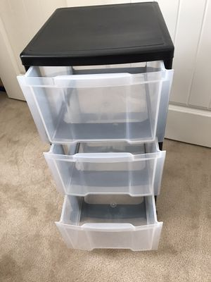 3 drawers plastic organizer - $5. EACH Good condition for Sale in Dublin, CA
