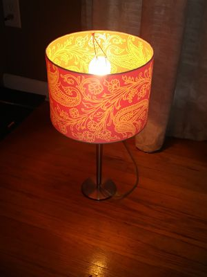 Pink and white lamp(MOVING SALE ITEMS WILL BE POSTED DAILY) for Sale in Redford Charter Township, MI