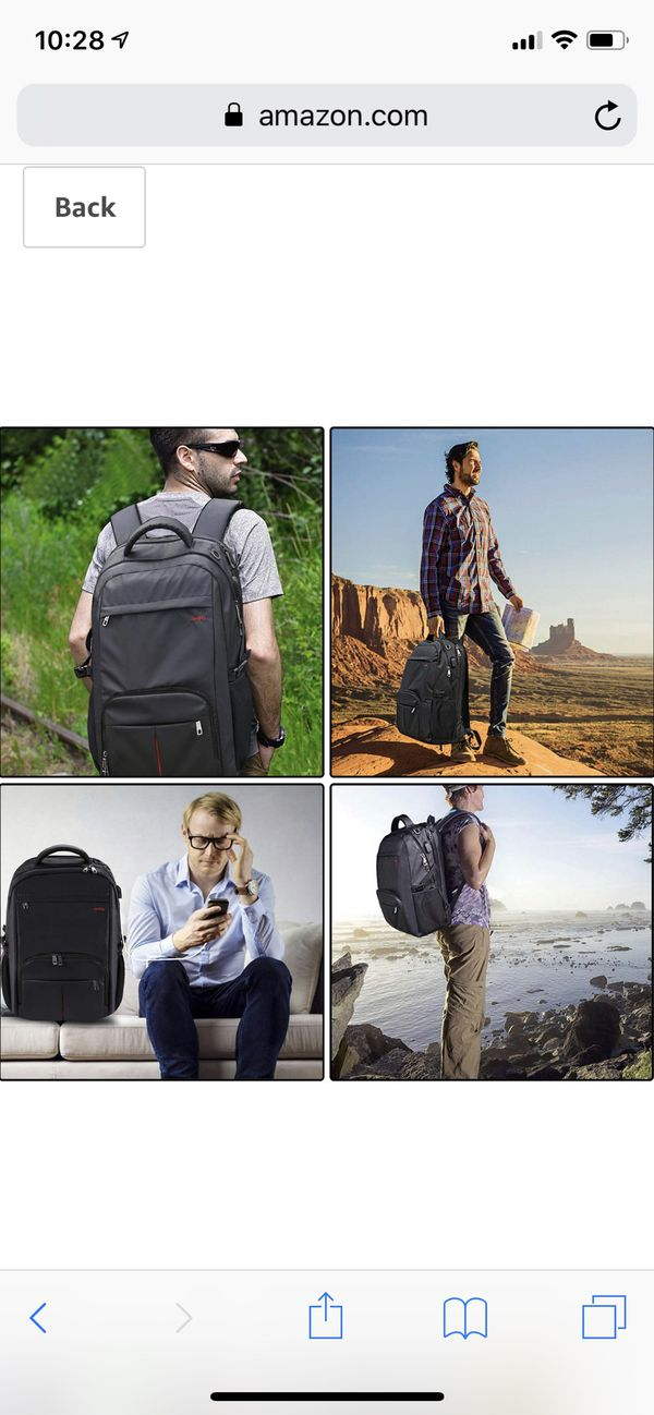 Large Laptop Backpack,17.3 inch TSA Durable Business Slim Travel Laptop Backpack with USB Charging Port for Women Men,Water Resistant Anti Theft Big