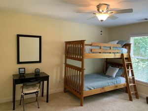 Solid wood twin bunk bed with mattresses for Sale in Hilton Head Island, SC