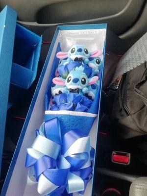 Rare Stitch Rose Bouquet Stuffed Animal for Sale in Brandon, FL