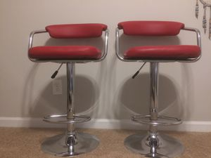 Two Red Barstools for Sale in Durham, NC