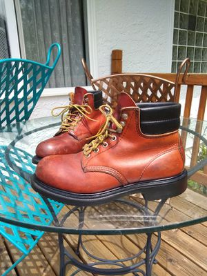 RED WINGS BOOTS • Steel Toe • MEN'S 7.5 • Construction/Work • GREAT CONDITION for Sale in SeaTac, WA
