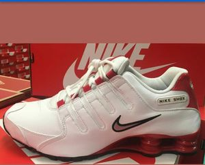 Nike Shox NZ White Metallic Silver Red Men Shoes size 7.5 (378341 110) for Sale in Brooklyn, NY
