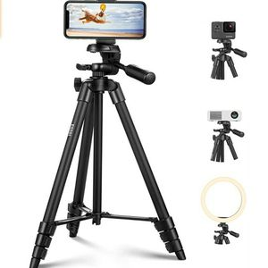 Lightweight Phone Tripod for Camera and Phone 55inch/140cm Ultra-Portable Travel Tripod for Cellphone, with Universal Phone Mount and 1/4 Quick Releas for Sale in San Jose, CA