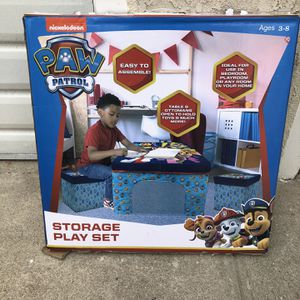 Nickelodeon Paw Patrol Collapsible Storage Ottoman Table and Chair Play Set SEALED IN BOX! for Sale in Los Angeles, CA