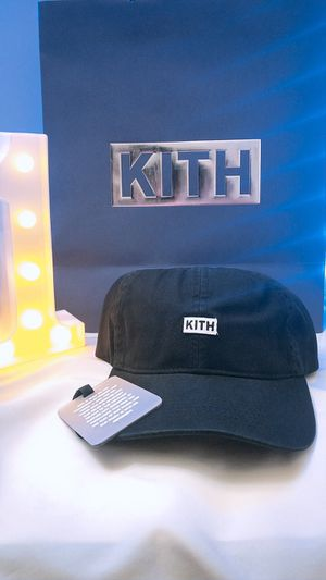New KITH Box Logo Dad Hat 6-Panel Cap Camp Black supreme Fall Winter 2019 FW19 for Sale in Los Angeles, CA