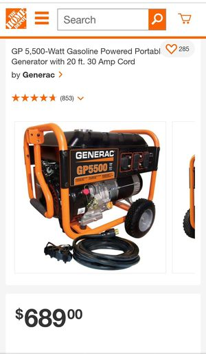 Generac GP550 Generator for Sale in Oklahoma City, OK