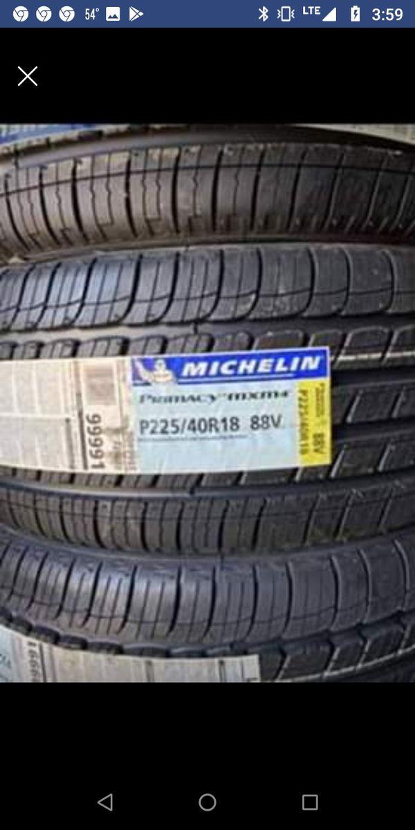 "18"" MICHELIN PRIMACY MXM4 Tires 225/40R18 ....$129 Each"