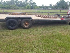 Dual axle 18000lb gvw trailer with pintle hitch for Sale in Saint Cloud, FL