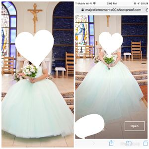 Quinceanera collection gown dress mint green for Sale in Palmdale, CA