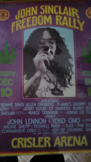 Poster of John Sinclair signed by the man himself 1,500 of best offer for Sale in Detroit, MI