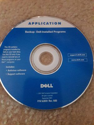 Backup Dell-installed programs.....Application for Sale in Fountain, CO