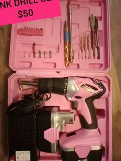 Pink Power 18v Drill Set for Sale in Beavercreek,  OR