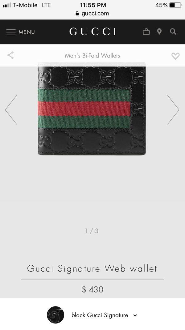 Gucci Wallet signature web wallet