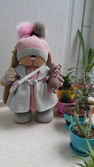 Handmade crochet Musical bunny doll for Sale in Orlando, FL