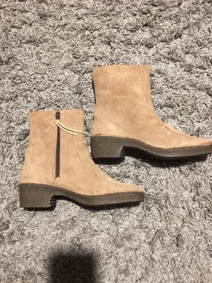 ALBA-LAMAX Suede, Faux Fur Line Ankle Boots. for Sale in Barnstable, MA