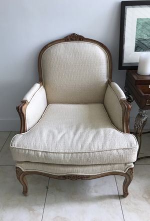 Recently Upholstered Antique arm chair for Sale in Miami, FL