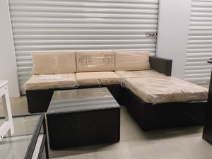 Brand New Outdoor Patio Sectional Set Chaise with Sofa for Sale in Dunwoody, GA